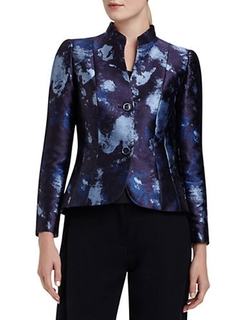 Patterned Two-Button Jacket by Lafayette 148 New York in The Good Wife