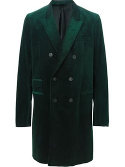 Corduroy Double Breasted Coat by Haider Ackermann in Victor Frankenstein