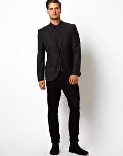 Slim Fit Suit Jacket by Red Eleven in About Last Night