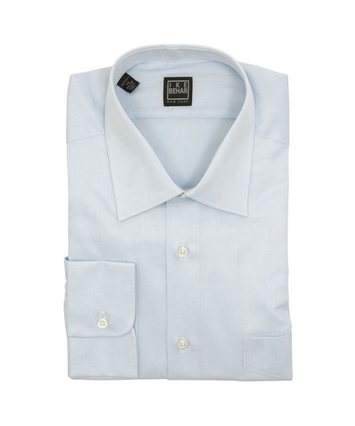 Solid Light Blue Cotton Dress Shirt by Ike Behar in Ballers