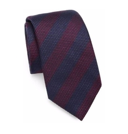 Striped Silk/Cotton Tie by Saks Fifth Avenue Collection in Designated Survivor