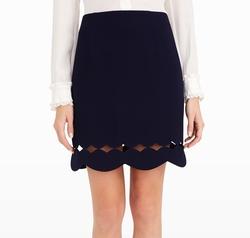 Atrina Scallop Skirt by Club Monaco in The Flash