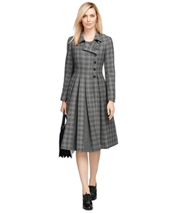 Wool Plaid Coat by Brooks Brothers in Scandal