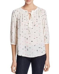 Arrow Print Tie-Neck Top by Aqua in New Girl