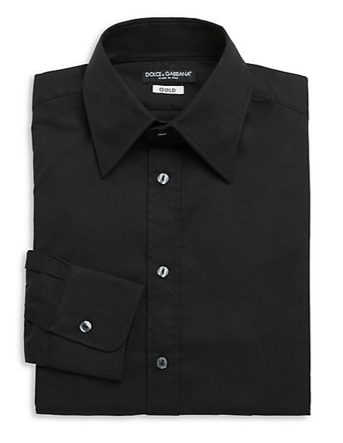 Stretch Cotton Woven Dress Shirt by Dolce & Gabbana in Get On Up