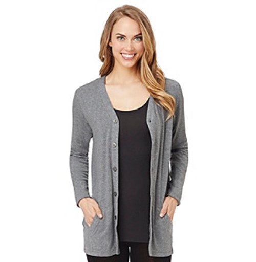 Softwear with Stretch Button Cardigan by Cuddl Duds in If I Stay