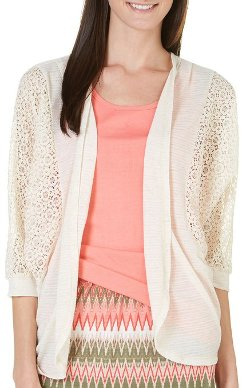 Crochet Lace Mix Open Cardigan by Dept 222 in The Best of Me