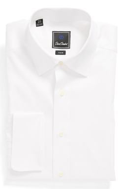 French Cuff Trim Fit Dress Shirt by David Donahue in Point Break
