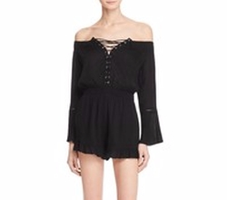 Off-The-Shoulder Romper by En Créme in Pitch Perfect 3
