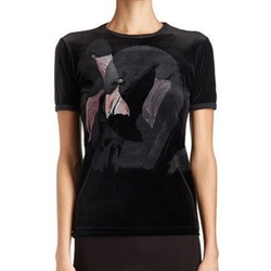Flamingo-Print Velvet Tee by Givenchy in Fifty Shades Darker