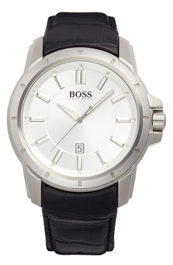 Round Leather Strap Watch by Boss Hugo Boss in The Second Best Exotic Marigold Hotel