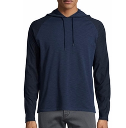 Contrast-Sleeve Pullover Hoodie by John Varvatos Star USA  in Power