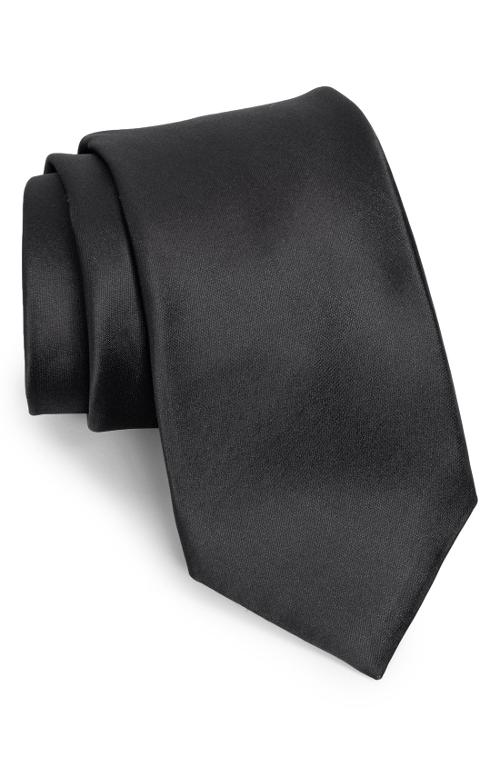Solid Satin Silk Tie by Nordstrom in Hot Tub Time Machine 2