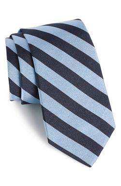 Stripe Silk Tie by Gitman in Scandal