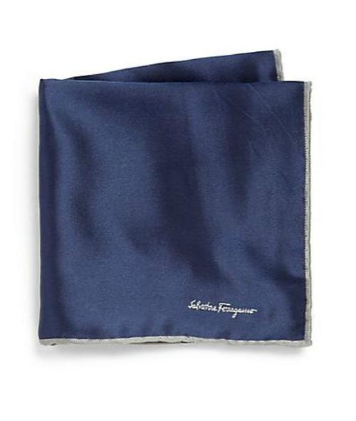 Silk Twill Pocket Square by Salvatore Ferragamo in Mortdecai