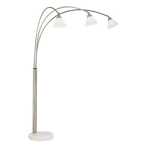 3-Light Brushed Steel Floor Lamp by Pacific Coast Lighting in While We're Young