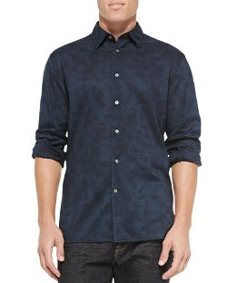 Long-Sleeve Printed Button-down Shirt by John Varvatos Star USA in Hot Pursuit