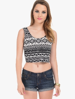 Caged Crop Top Black by Lola in Unfriended
