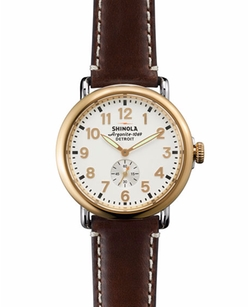 Runwell Gold Leather Strap Watch by Shinola in How To Get Away With Murder