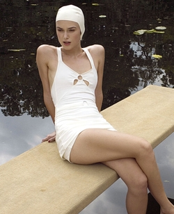 Custom Made Cut-Out One Piece Swimsuit by Jacqueline Durran (Costume Designer) in Atonement