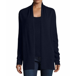 Cashmere Draped Cardigan by Neiman Marcus Cashmere Collection in Fuller House