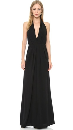 Deep V Halter Gown by Jill Jill Stuart in Side Effects