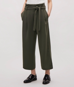 Wide Waist-Pleated Trousers by COS in Quantico