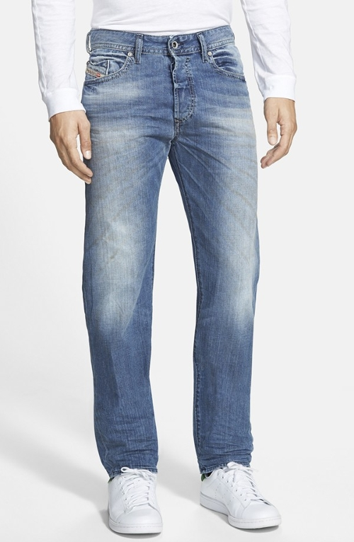 'Buster' Slim Straight Leg Jeans by Diesel in Ex Machina