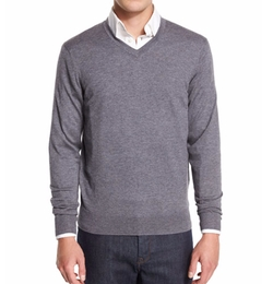 Cashmere-Silk V-Neck Sweater by Private Label in Ballers
