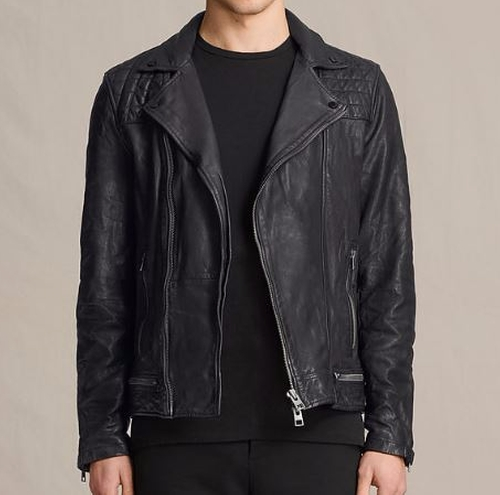 Conroy Leather Biker Jacket by All Saints in 13 Reasons Why - Season 1 Episode 7