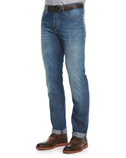 Lightweight Medium Wash Jeans by Brunello Cucinelli	 in Fast Five