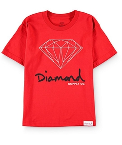 OG Sign Red T-Shirt by Diamond Supply Co in Unbreakable Kimmy Schmidt