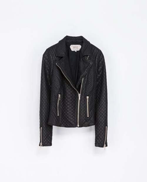 Zoey Deutch Zara Faux Leather Quilted Biker Jacket from Vampire ... : leather quilted biker jacket - Adamdwight.com