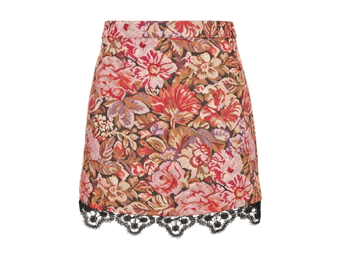 Rose Jacquard Lace Hem Skirt by Topshop in Me Before You