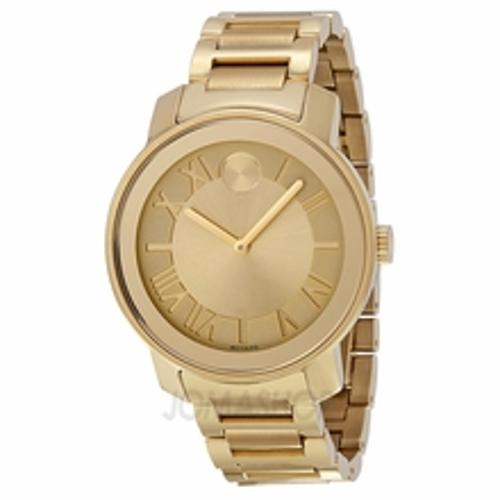 Bold Champagne Dial Yellow Gold Men's Watch by Movado in Contraband