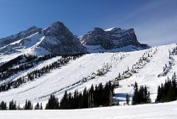 Kananaskis Country, Alberta, Canada by Fortress Mountain Resort (Depicted as Snow Fortress) in Inception