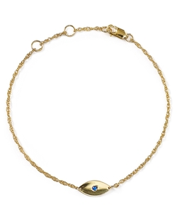 Nazar Mini Evil Eye Bracelet by Jennifer Zeuner in Empire