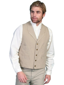 Cotton Canvas Vest by Scully in Free State of Jones
