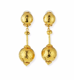 Hammered Ball-Drop Clip-On Earrings by Jose & Maria Barrera in Designated Survivor