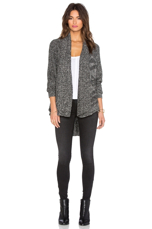 Lightweight Cable Open Cardigan  by LA Made in Grace and Frankie - Season 2 Episode 2