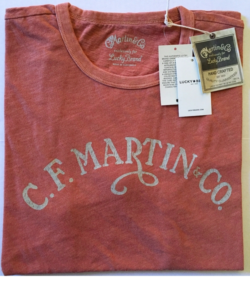 C F Martin Co Guitar Classic Logo Short Sleeve T Shirt by Lucky Brand in Power Rangers