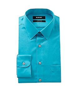 Solid Point-Collar Liquid Cotton Dress Shirt by Murano in The Man from U.N.C.L.E.