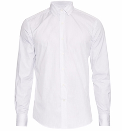 Button-Cuff Striped Cotton Shirt by Lanvin in House of Cards