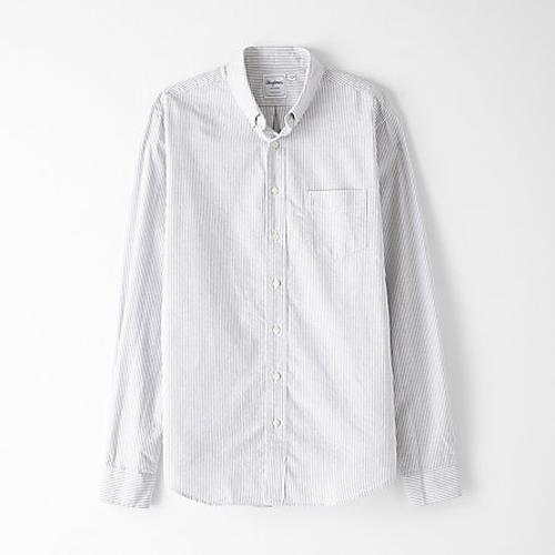 Oxford Regular Stripe Shirt by Schnayderman's in Black Mass