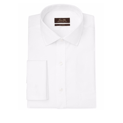 Classic-Fit Non-Iron Twill Solid French Cuff Dress Shirt by Tasso Elba in Ballers