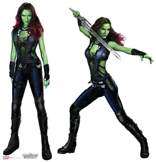 Custom Made Gamora Suit by Alexandra Byrne (Costume Designer) in Guardians of the Galaxy