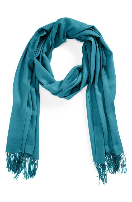 Tissue Weight Wool & Cashmere Wrap by Nordstrom in Laggies