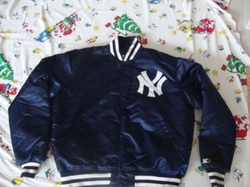 MLB New York Yankees Satin Jacket by Vintage Concert NBA NFL NHL Shirts in Love