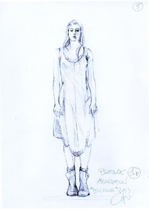 Custom Made Tris Prior Abnegation Dress by Carlo Poggioli (Costume Designer) in Divergent