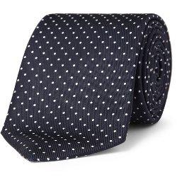 Polka-Dot Silk Tie by Turnbull & Asser in Spy